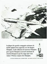 PUBLICITE ADVERTISING 126  1966    bougies Champion  vol polaire Rockwell  707