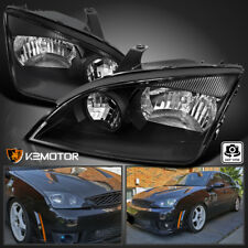 Ford 2005-2007 Focus Replacement Black Headlights Head Lights Lamps Left+Right