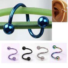 Stainless Steel Flexo Twist Cartilage Bars Balls Ring Ear Stud Earring Piercing