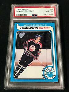1979 Topps #18 WAYNE GRETZKY RC Rookie Edmonton Oilers HOF PSA 4 ~MB02A