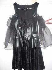 Witch dress black short ladies