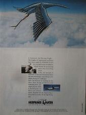 6/1991 PUB HISPANO-SUIZA CIGOGNE STORCH AIRBUS A330 AIRLINER BUGATTI ORIGINAL AD