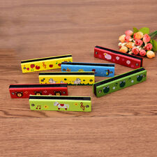 Educational Musical Wooden Harmonica Instrument Toy for Kids Gift Random colorHC