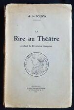 Le rire au théâtre pendant la révolution française.