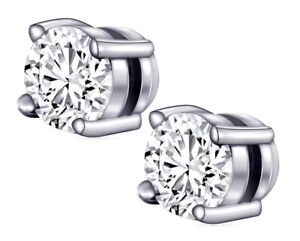 Non Piercing Magnetic Earrings Ear Stud Studs White Gold Plated 6mm 8mm 10mm