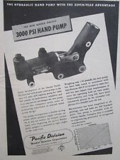 8/1945 PUB BENDIX PACIFIC AVIATION HYDRAULIC HAND PUMP ORIGINAL AD