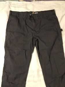 Carhartt Mens Rugged Flex rigby Dungaree Pants 50x32 relaxed fit grey