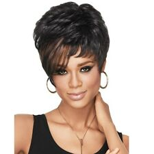 Women Short Pixie Wig Lace Front Hair Synthetic Intense Wavy Wigs