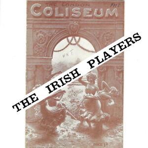1913 London Coliseum Music Hall theatre programme JM Barrie Irish Players