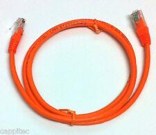 Arancione 1M RJ45 Cat5e UTP antigroviglio Rete Cavo Patch, stock nuovo