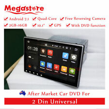 "2 din 10.1"" Android 7.1 quad core Car DVD GPS Multimedia player head unit wifi"