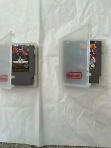 Lot of 2 Punch Out games Mike Tyson's (NES, 1987)
