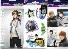 JUSTIN BIEBER REPOSITIONAL STICKERS AND LARGE DECALS 3 PACKS NEW FREE SHIPPING