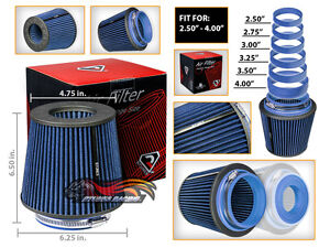 Short Ram Cold Air Intake Filter Round/Cone Universal BLUE For Pontiac 3