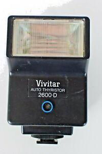 VIVITAR Auto Thyristor 2600-D - Tested - Flash unit Vintage dedicated STROBE