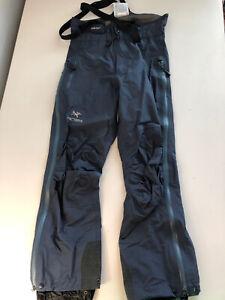 Blue Arc'teryx Gore-tex Snow Ski Pants Bibs Mens Small