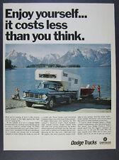 1967 Dodge D200 Camper Special Pickup Truck photo vintage print Ad