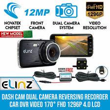 Elinz DCDUALS-32GB-CBLPARK 170° FHD 1296P 4.0 LCD Reversing Recorder DVR Video