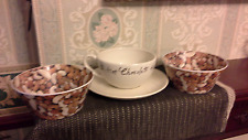 Whittard Jumbo Breakfast cup + saucer Hot chocolate + 2 ass'd nuts cereal bowls