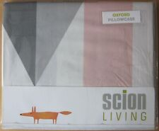 SCION Oxford Pillowcase Pair New NUEVO BLUSH/CHARCOAL