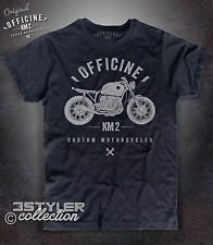 T-shirt uomo LOGO MOTO MOTORCYCLE Vintage custom BMW rider Officine KM2