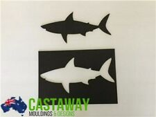 Large Shark Stencil and Silhouette Set - Strong & Reusable