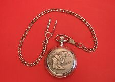Line Dancing Country & Western Pocket Watch Pewter Front Mother Fathers Day Gift