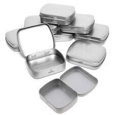 Small Hinged Metal Tin Lip Balm Beard Wax Cream Sweets Cosmetics Pills 6x4.6.Z8