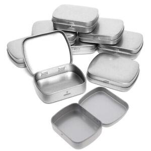 Small Hinged Metal Tin Lip Balm Beard Wax Cream Sweets Cosmetics Pills 6x4.^dm