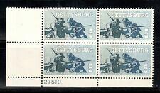1180 Gettysburg Plate Block Mint/nh (Free Shipping)