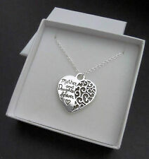 'MOTHER AND DAUGHTER FOREVER' HEART PENDANT NECKLACE UK SELLER