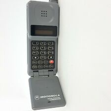 Vintage Motorola Cellular Flip Phone Digital Personal Communicator Gray - Parts