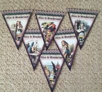 Alice In Wonderland Paper Bunting  Party Decoration Birthday Wedding..