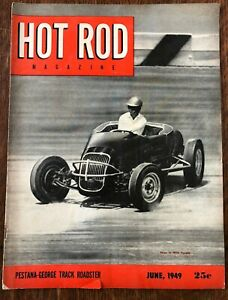 HOT ROD Magazine June 1949 Pestana-George Track Roadster