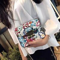 Exquisite Embroidery Flower Printing Handbag Women Shoulder Bag Crossbody Bag