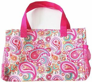 Thirty-one Bag All-in-One Mini tote Organizer Pink Paisley