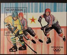 Nicaragua Olympiade 1984 Sarajevo Block 155 gestempelt