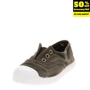 CHIPIE Kids Canvas Sneakers EU 25 UK 7.5 US 8.5 Elasticated Inserts Garment Dye