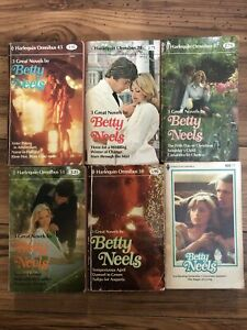 Vintage Lot Of 6 Harlequin Romance, Betty Neels 3-in-1 Omnibus, 18 Stories
