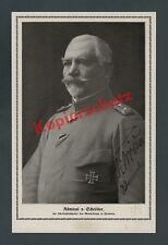 Foto Admiral L. v. Schröder Kaiserliche Marine Wappen Marinekorps Flandern 1918