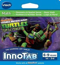 VTech InnoTab Teenage Mutant Ninja Turtles Math Game Cartridge NEW