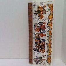 "Halloween Fun Witch JackOLantern 12"" Border STICKERS SCRAPBOOKING sticker parade"
