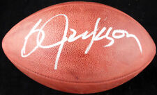 BO JACKSON AUTOGRAPHED SIGNED NFL LEATHER FOOTBALL RAIDERS BECKETT 125133