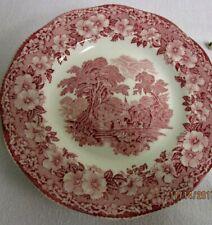 Enoch Wedgwood Tunstall England Salad Plates Woodland  Pink Lot of 3 Plates