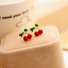 Cherry stud earrings uk seller