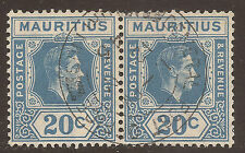 Multiple George VI (1936-1952) Mauritian Stamps