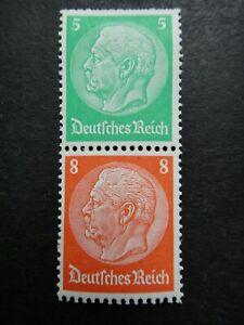Germany Nazi 1933 - 1936 Stamps MINT Pair Pres. von Hindenburg Third Reich Germa