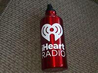 I HEART RADIO promo METAL WATER BOTTLE DRINK BEVERAGE THERMOS dj Station Promo