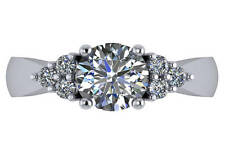 1.75 ct AGS cert I SI2 round natural diamond engagement ring platinum size 6.5