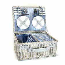 Yellowstone 4 Person Wicker Picnic Basket with Cooler Compartment